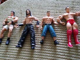 Large bundle of wwe figures