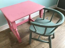 Children's table & chair