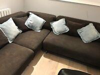 L shaped Ikea sofa