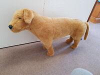 Lifesize stuffed toy dog