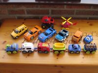 Collection of cars and other wheeled vehicles