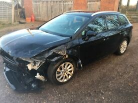 SEAT LEON 2014 DAMAGED CAT S £2399 STARTS AND DRIVES