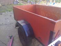 Hi here's a car trailer 5feet by 3feet mini weels good tyres