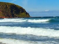static caravan for sale in Scotland. Pay monthly. Next to stunning sandy beach. Berwickshire.