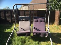 2 Seater Garden Metal Swing,each seat swings independently