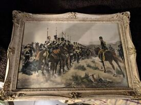 'All that was left of them' Original Painting by Richard C Woodville, famous Victorian painter