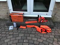 Petrol chain saw for sale like new