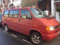 VW T4 Caravelle, 8 seater Transporter, remarkably good bodywork, ideal for camper, day van etc
