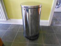 Large Kitchen Chrome Pedal Bin