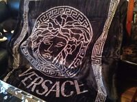 Versace Blanket for Double Bed Black / Silver