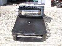 A pair of PC monitor risers in black