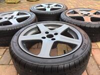 """17"""" Peugeot 206 GTi 306 Refurbished Alloy wheels & Tyres - Citroen C2 C3 DS3 Ford"""