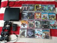 PS3, 19 games, 4 x controllers and a charging station.