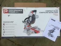 Performance power compact slide compound mitre saw