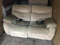 2 seat electric recliner sofa + free delivery