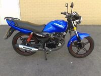 2014 sinnis max 2 125cc motorcycle , low miles and hpi clear
