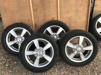 Set of alloy wheels 205/55/16 seat 16''