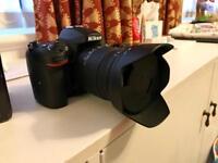 camera, lens and umbrella studio
