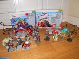 Xbox 360 disney infinity and super hero sets