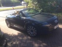2004 Audi TT 1.8 Roadster (150bhp) Black Leather interior