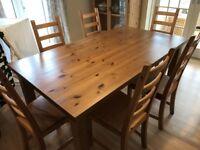 Ikea Table & 6 Chairs