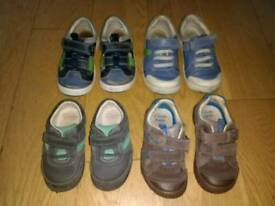 Boys shoes Clarks leather sizes 6,7,9,9.5