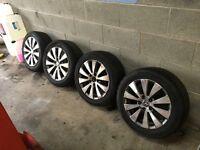 Genuine Volkswagen Passat 5x112 bluemotion alloys (audi,seat,skoda,volkswagen)