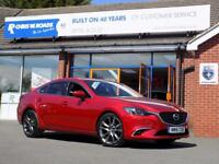 MAZDA 6 2.2 D SPORT NAV 4dr (150) ** Leather + Nav + Rear Camera ** (red) 2016