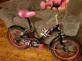 """Girls 16"""" cherrie bike. Immaculate condition as been kept in the house. Still for sale in Smyths"""