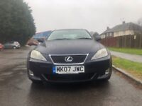 Lexus IS 220d 2.2 TD 4dr£2,495 p/x welcome Priced to sell very clean car 2007 (07 reg),132,000 miles