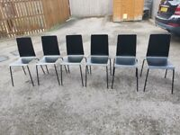 6 IKEA Martin Black Chairs FREE DELIVERY 5088