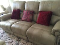 Sofology Quality Leather 3seater reclining sofa