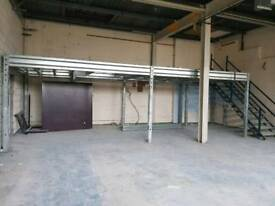 Galvanised frame work, complete with stairs ideal storage, office, workshop mancave