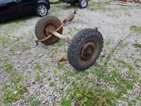 Land rover wheels axle trailer