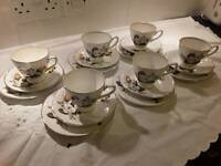 6 cups, saucers and side plates