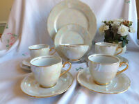 Mother of pearl tea set cups