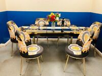 🍒🔥🔥GREAT BUYING SALE🔥🔥ON FIERY EXTENDABLE DINING TABLE WITH 6 CHAIRS