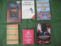 6 Various Books - Poetry, Humour, Film and Student Self-Help - All 6 for £5.00
