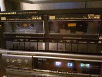 Marantz SD 155 Twin Stereo Cassette Tape Deck Hifi