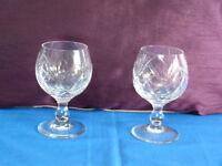 glass brandy glasses