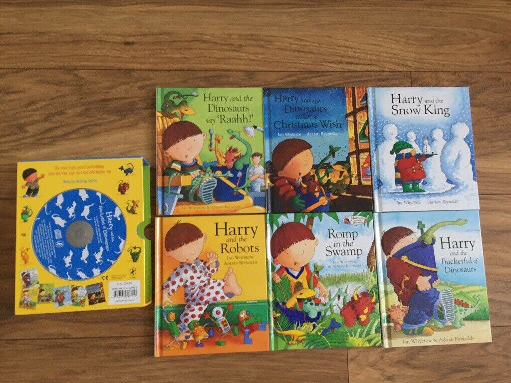 Harry and the Bucketful Of dinosaurs CD and 6 book children's book set