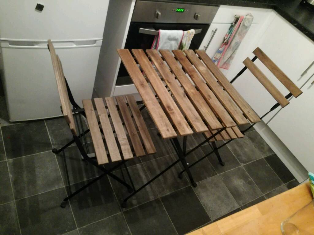 Outdoor table and 2 chairs tarno ikea in streatham - Mesas de terraza ikea ...