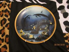 Limited Edition Wyland The Hamilton Kissing Dolphins Great Mammals Of The Sea Plate numbered