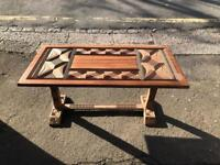 Vintage African tribal handcrafted coffee table