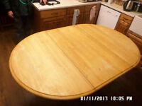 Solid pine exstendable table