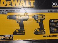 Dewalt 18v twin pack impact driver plus drill brand new
