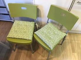Green Chairs and Chair Cushions
