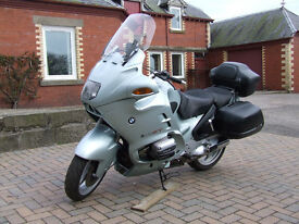 NOW SOLD. BMW R1100RT (1998 R ) shaft drive motorcycle, with full fairing and full hard luggage.