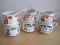 SET OF 6 RECIPE SOUP MUGS