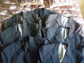 Next Men's Formal Tailored Suit Jackets Blazers (x7) in 40R plus a 3 piece suit